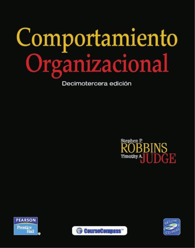 libro de comportamiento organizacional stephen robbins pdf