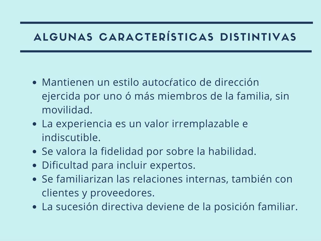 Características del sistema familia